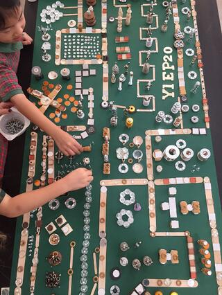 EtonHouse International Pre-School Thomson children experimenting and building their own circuit boards